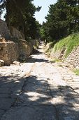 stock photo of minos  - Original Minoan path from Knossos to the Small Palace - JPG