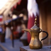 stock photo of qatar  - A coffee pot  - JPG