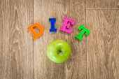 Diet. Dieting Concept. Diet Menu. Object. Close Up. Macro Photography poster