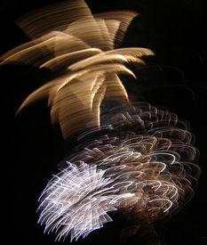 stock photo of guy fawks  - fireworks evening celebration guy fawkes 4th july new year - JPG