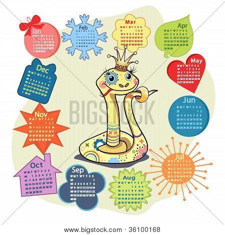 Funny Snake Calendar