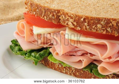 Ham And Swiss Cheese Sandwich