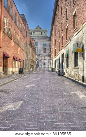 Street in Old Montreal hdr