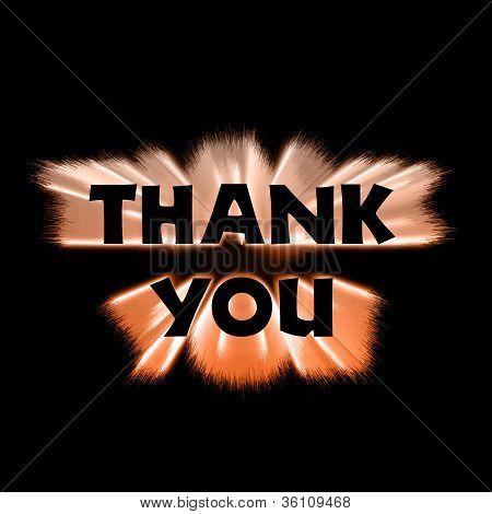Thank You Orange Burst
