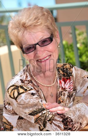 Gracious Senior Lady Outdoors