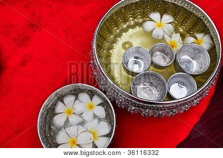 Floating Flowers in Bowl of Water