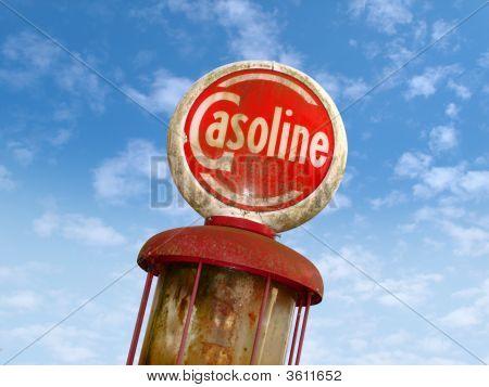Old Gasoline Sign