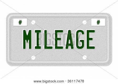 Mileage Car  License Plate