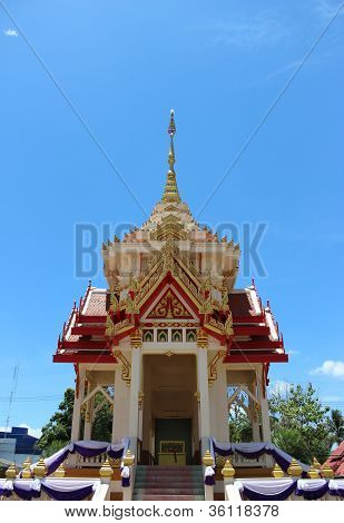 Crematorium in Thai temple
