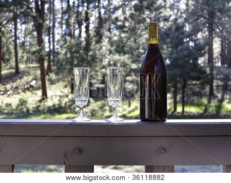 Wine in the forest