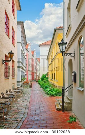 Narrow Riga Street