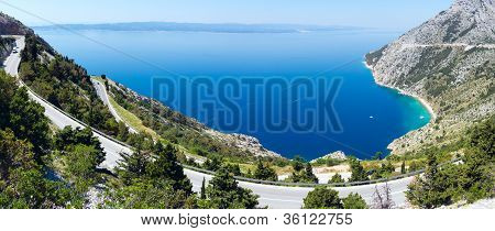 Makarska Riviera Coast With Adriatic Highway (croatia)