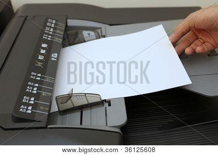 Making Copies On The Laser Copier Machine