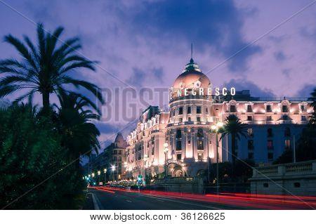 The famous El Negresco Hotel in Nice, France