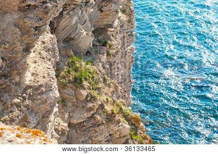 Cliff And Sea Background