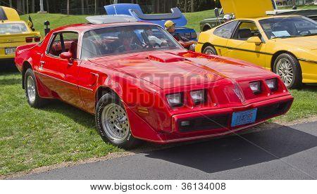 Red Pontiac Trans Am Firebird