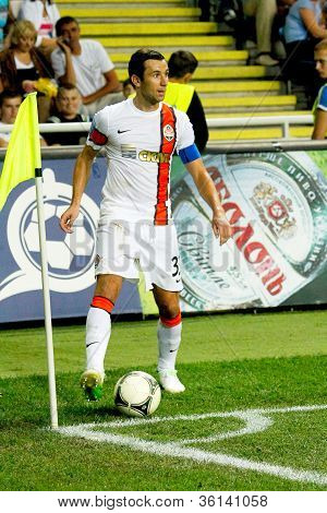 Odessa, Ukraine - August 19, 2012: Dario Srna, Ukraine Championship Football Match Between Shakhtar