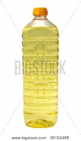 Sunflower Oil In A Plastic Bottle