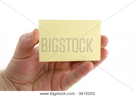 Hand With Empty Paper