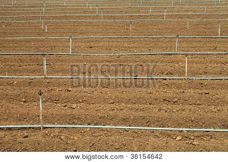 Plow Land And Irrigation System
