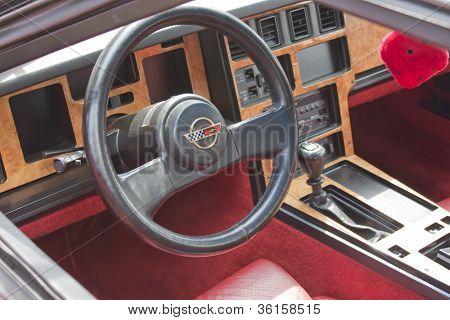Red 1980 Chevy Corvette Interior