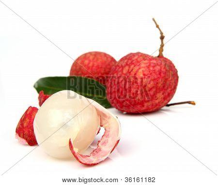 Litchi Fruit Isolated