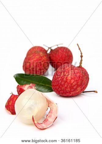 Fresh Of Litchi Fruit Isolated