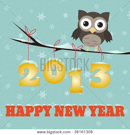 Owl Happy New Year 2013
