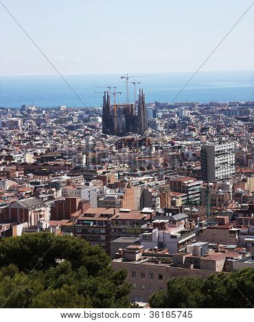 Barcelona, View From The Mountain