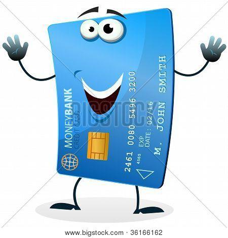 Kreditkarte Zeichentrickfigur