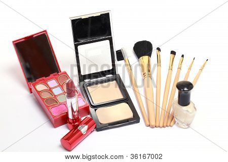 Makeup Kit And Brushes