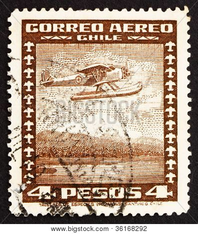 Postage stamp Chile 1935 Seaplane