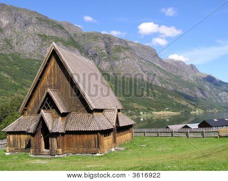 Very Old Stavkirke In Norway