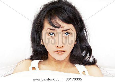 Asian Woman Getting Insomnia