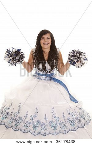 Prom Dress Pom Poms