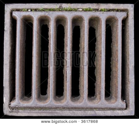 Close-Up Of A Grate