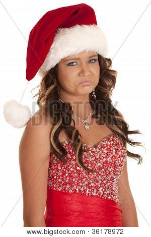 Teen Santa Hat Sad