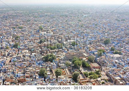 Blue Houses Of The Hindu Brahmin Caste, Jodhpur, Rajasthan