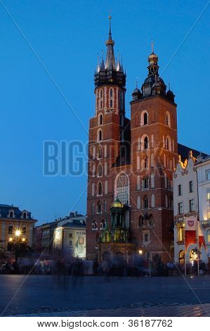 Mariacki Church At Evening
