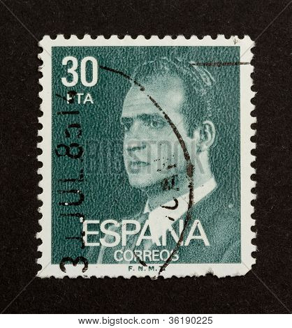 Spain - Circa 1980: Stamp Printed In The Spain