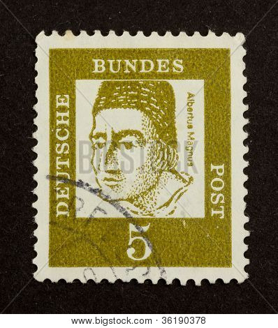 Germany - Circa 1960: Stamp Printed In Germany