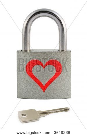 Lock With Heart And Key