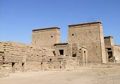 pic of isis  - sunny scenery including the temple of Isis in Egypt - JPG