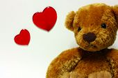 foto of stuffed animals  - Cute Teddy bear with love and hearts - JPG