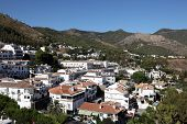 picture of pueblo  - Village Mijas Pueblo in Province of Malaga Andalusia Spain - JPG