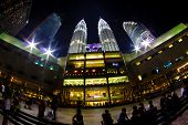 stock photo of petronas twin towers  - Petronas Twin Towers in Kuala Lumpur - JPG