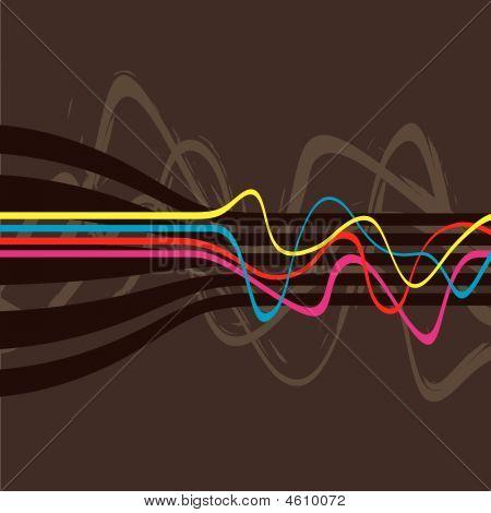 Retro Lines Vector
