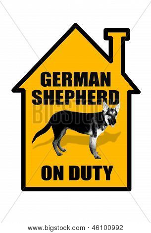 German Shepherd Sign.