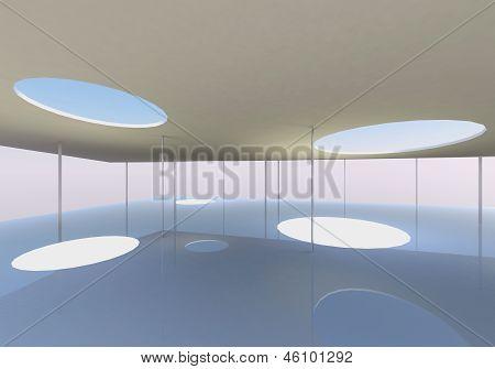 Interior Of Conceptual Modern Building