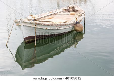 Old Wooden Rowing Boat